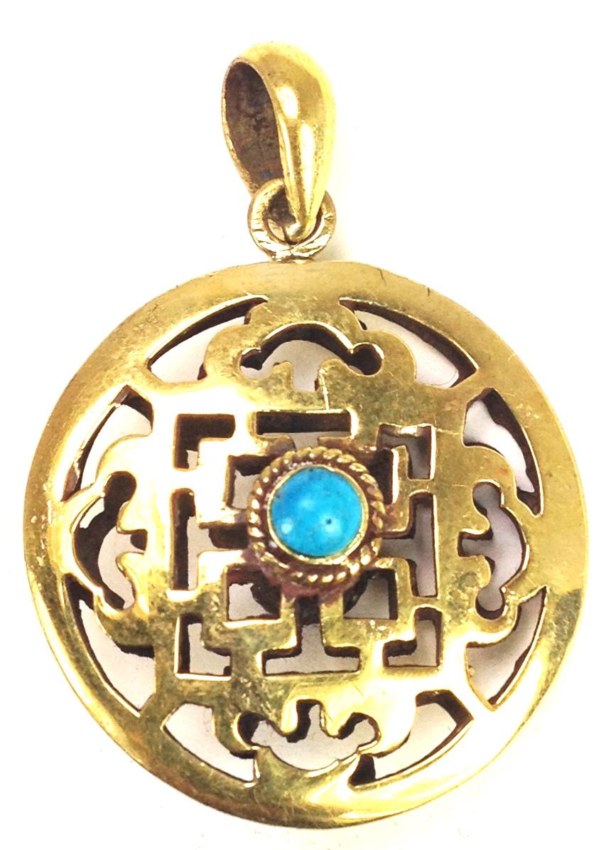 Brass Turquoise Mandala